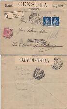 SVIZZERA-Raccomandata Chiasso- Milano 4.3.1916-Tassata in arrivo 10c-Censura