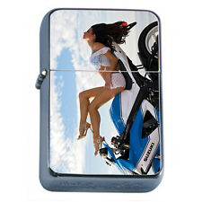 Windproof Refillable Oil Lighter Sexy Motorcycle Model D2 Bike Speed Hot Babe