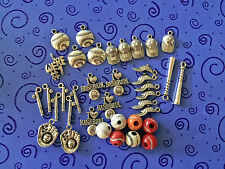 free ship:37+ CHARMS:I Love Baseball,BAT & BALL, CAPS, GLOVES,BEADS, We're #1 ++