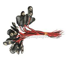 20Pcs 9V Battery Snap Clip Connector With Wire Holder Shell Cable Leads Cord New