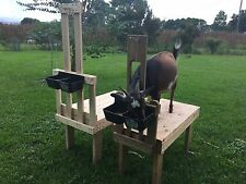 Custom Goat Sheep Milking Grooming Fitting Stand With Feeder