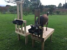 Custom Goat Sheep Dog Grooming Milking Fitting Stand w/Feeder