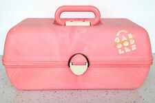 Vintage CABOODLES Purple Pink Sliding Tray Jewelry Box Makeup Case 2630