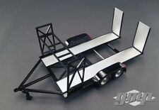 Rimorchio tandem Car Trailer with TIRE Rack Black per modellini di auto 1:18 GMP