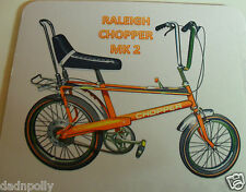 RALEIGH CHOPPER MOUSE MAT - MK 2 CHOPPER - PERSONALISED IF REQUIRED - IDEAL GIFT