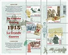 5 gegomde zegels  - waarde 1 bestemming europa - De Grote Oorlog - deel 2
