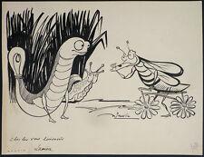 Dessins humoristique de julien PAVIL (1897-1952) pour PARIS-MIDI en 1939 insecte