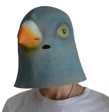 FUNNY LATEX PIGEON MASK HORROR HALLOWEEN SCARY FANCY DRESS BIRD COSTUME