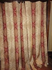 CROSCILL CLASSICS RED GOLD FLEUR FLORENTINCE SHOWER CURTAIN 68 X 70