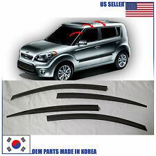 SMOKE DOOR WINDOW VENT VISOR DEFLECTOR (A107) for KIA SOUL 2009-2013
