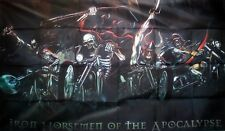 IRON HORSEMEN OF THE APOCALYPSE 5 X 3 FEET FLAG PIRATE GOTH ROCK MOTORCYCLE