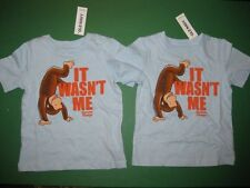 NWT New Old Navy Curious George TWINS Shirts 12 - 18 months  Great gift!