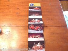 Vintage New York State Museum 6 Post Card Fire Engine Fold Out