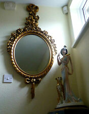 MIRROR -MOST ORNATE LARGE VINTAGE GILT FRAMED BEVELED EDGE MIRROR - VERY GRAND!