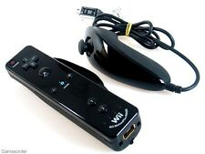 ORIGINAL NINTENDO Wii + U Remote MOTION INSIDE + NunChuk Controller °SCHWARZ°