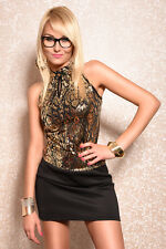Glamour Mini Evening Dress New Year's Eve Dress Xmas Christmas Gala Dress 34 36