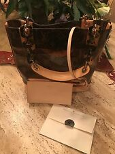 NEW Authentic Louis Vuitton Monogram Cabas Ambre Amber Tote PM - Rare w/receipt