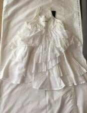 JEAN BOURGET Little Couture 6yrs 5/6yrs Girls off white tiered layered dress NWT