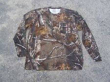 Lot of 3 Russell Outdoor MEN'S Realtree AP Camo Long Sleeve Pocket T-Shirts XL