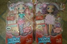 La Dee Da Dolls Cyanne Peppermint Pose & Tylie Cotton Candy Crush NEW