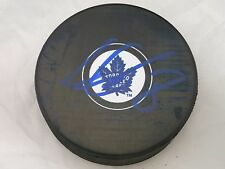 Connor Carrick Toronto Maple Leafs Signed Autographed NHL Logo Puck