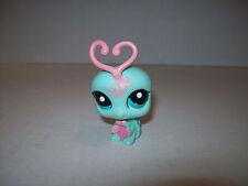 Littlest Pet Shop~#1727~Lovebug Mint Green Pink Antennas~Blue Dot Eyes