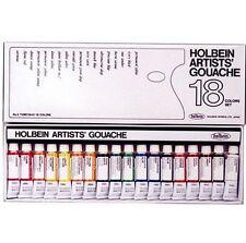 HOLBEIN Artists' Gouache 18-Colors Set 5ml tube