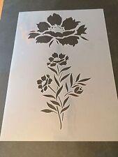 PEONY FLOWER STELI MYLAR riutilizzabile Stencil AEROGRAFO PITTURA arte artigianato FAI DA TE CASA