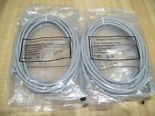 "(4) Category CAT 6 RJ45 Patch Cord (UTP) 50u"" Stranded 568B 10 foot cable (grey)"