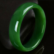 "Certified Natural Green Hetian Nephrite Jade Bangle Bracelet ""Handmade"" 58-60mm"