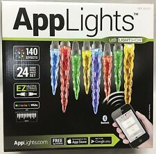 Gemmy APPLIGHTS 24 Icicle Christmas 140 Effects LED Phone Apps Control Lightshow