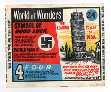 Anglo Wax Wrapper World of Wonders #24 Leaning Tower of Pisa Good Luck Swastika