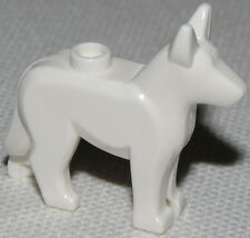 LEGO NEW WHITE GERMAN SHEPHERD DOG WOLF ALSATIAN PIECE