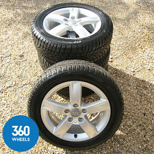 "GENUINE AUDI A3 16"" 5 SPOKE ALLOY WHEELS DUNLOP SP SPORT WINTER TYRES ICE SNOW"