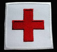 THE RED CROSS SYMBOL SIGN HUMANITARIAN Embroidered Iron on Patch Free Postage