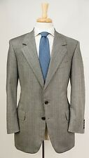 Bespoke OXXFORD 'Collector's Item' Gray Plaid Check Super 120s Wool Suit 40 S