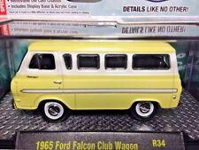 M2 Machines 1/64 1965 Ford Falcon Club Wagon - Yellow/Wht - Auto-Trucks R34 2015