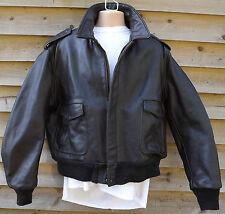 Vintage Schott NYC (684SM) Brown Leather A2 Flying / Pilot / Aviator Jacket - 46
