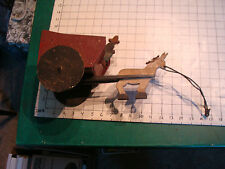 early FOLK ART ? Donkey pulling man and cart PULL TOY, early