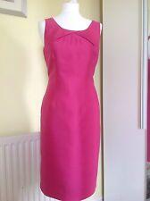 LK BENNETT PINK SILK/WOOL DRESS UK 12