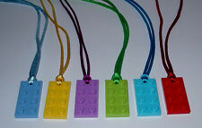 BOY GIRL PARTY FAVORS  5  LEGO BRICK BLOCK PLATE NECKLACES  BIRTHDAY   GRAB BAGS