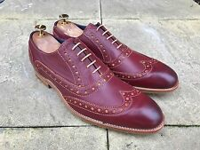 Barker Grant Wing Tip Brogue Shoes Rum Mustard Calf UK 8 B.N.I.B