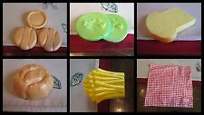 Little Tikes Backyard BBQ Buns Pickles  Picnic  Napkin French Fries PLAY FOOD