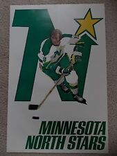 Vintage NHL Minnesota North Stars poster from the 1970s