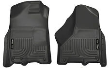 09-2017 Ram 1500|10-2017 2500/3500 Husky WeatherBeater 1st Row Floor Mats Black