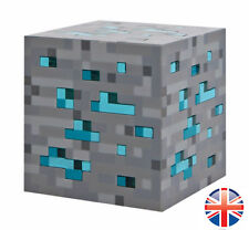 Minecraft Diamond Ore Light Up Night Light Blue Xmas Gift Toy Kids - UK Seller
