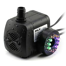 ZMLM Submersible Water Pump with 12 LED Light for Fountain Pool Garden Pond Fish