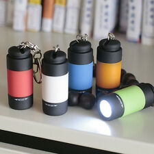 Waterproof USB Rechargeable LED Light Flashlight Lamp Keychain Pocket Mini Torch