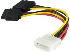 SATA Y Split Power Cable: Power adapter Splitter for SATA From 1x Molex LP4 4pin