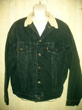 Levi Strauss Denim Jean   Jacket  Black Made in USA Size XL